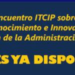 Invitación al 1er Encuentro ITCIP. La cita de la Innovación Pública